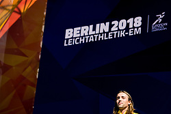 August 12, 2018 - Berlin, GERMANY - 180812 Andreas Kramer of Sweden at the medal ceremony for the men's 800 meter during the European Athletics Championships on August 12, 2018 in Berlin..Photo: Vegard Wivestad GrÂ¿tt / BILDBYRN / kod VG / 170207 (Credit Image: © Vegard Wivestad Gr¯Tt/Bildbyran via ZUMA Press)