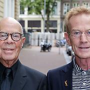 NLD/Amsterdam/20120916- Modeshow Frans Molenaar wintercollectie 2012, Hans van Manen en partner Henk van Dijk
