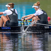 Kerri Gowler and Grace Prendergast New Zealand Womens Coxless Pair , World Champions 2017<br /> <br /> Finals races at the World Championships, Sarasota, Florida, USA Saturday 30 September 2017. Copyright photo © Steve McArthur / www.photosport.nz