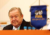 Fotball<br /> Seedingen til VM 2006<br /> Foto: imago/Digitalsport<br /> NORWAY ONLY<br /> <br /> 06.12.2005<br /> <br /> UEFA Präsident Lennart Johansson (Schweden) bei Pressekonferenz anläßlich der Gruppenauslosung für die FIFA Weltmeisterschaft 2006