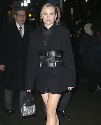 Diane Kruger at 'Late Show with Stephen Colbert' in New York. 13 Dec 2018 Pictured: Diane Kruger. Photo credit: MEGA TheMegaAgency.com +1 888 505 6342