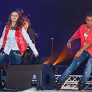 NLD/Amsterdam/20121117 - Danny de Munk 30 jaar in het vak, dochter Bo de Munk danst voor haar vader met danspartner Cassius