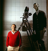 Roy Disney, Vice Chairman, The Walt Disney Company and Chairman Walt Disney Feature Animation at Corporate Headquarters in Burbank, CA.  In Background is his father Roy, Co-Founder of the Walt Disney Co.