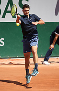 Miomir Kecmanovic of Serbia during day 1 of the French Open 2021, a Grand Slam tennis tournament on May 30, 2021 at Roland-Garros stadium in Paris, France - Photo Jean Catuffe / ProSportsImages / DPPI