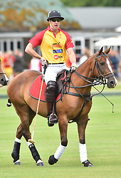 Prince William, Duke of Cambridge, pictured playing at the Jerudong Trophy polo match, at Cirencester Park Polo Club, Gloucestershire. Picture date: Saturday July 15th, 2017. Photo credit should read: Matt Crossick/ EMPICS Entertainment.