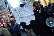 20 February 2009 NY, NY -Atmosphere at Day 2 of New York Post Protest by Rev. Al Sharpton and The National Network against offensive cartoon depicting dead Chimpanzee as President Obama. Photo Credit: T.Jennings/Sipa