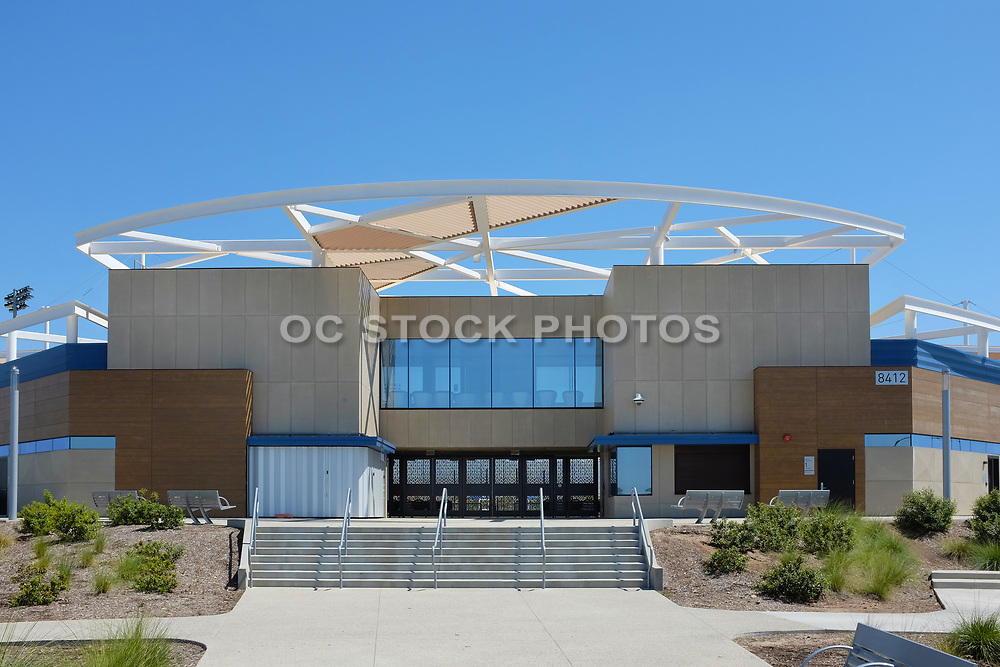 The Main Entrance to the Championship Baseball Stadium at the Orange County Great Park Spots Complex