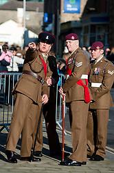 Remembrance Sunday Barnsley 4 Yorks & The Parachute Regiment<br /> <br />   12 November2017 <br />   Copyright Paul David Drabble<br />   www.pauldaviddrabble.co.uk