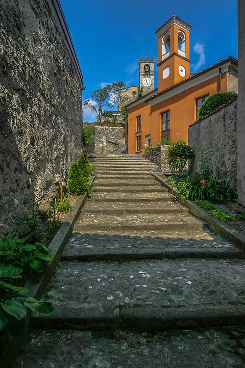 The Sanctuary of Madonna della Rocca in Sabbio Chiese, Italy.