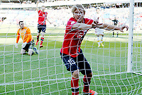 Fotball , 11. juni 2013 , Privatkamp , Norge - Makedonia<br /> Norway - FYR Macedonia 2-0<br /> <br /> Per Ciljan Skjelbred , Norge scorer mål