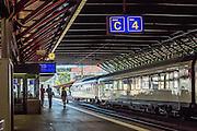 Train station in Switzerland, Europe.