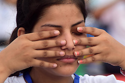 June 19, 2017 - Allahabad, Uttar Pradesh, India - Allahabad: An Indian Girl practice Yoga ahead of ''International Yoga Day'' in Allahabad on 19-06-2017, International Day of Yoga (Hindi: Antarastriya Yoga Divas), or commonly and unofficially referred to as Yoga Day, is celebrated annually on 21 June since its inception in 2015. An international day for yoga was declared unanimously by the United Nations General Assembly (UNGA) on 11 December 2014. Yoga is a physical, mental, and/or spiritual practice attributed mostly to India. The Indian Prime Minister Narendra Modi in his UN address suggested the date of 21 June, as it is the longest day of the year in the Northern Hemisphere and shares special significance in many parts of the world. (Credit Image: © Prabhat Kumar Verma via ZUMA Wire)
