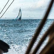 Leg 4, Melbourne to Hong Kong, day 01 on board MAPFRE, Leg start, batle with Vestas to lead the fleet. Photo by Ugo Fonolla/Volvo Ocean Race. 02 January, 2018.
