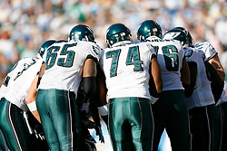 Philadelphia Eagles Offense in a huddle during the NFL game between the Philadelphia Eagles and the San Diego Chargers on November 15th 2009. At Qualcomm Stadium in San Diego, California. (Photo By Brian Garfinkel)