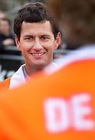 LAREN - De voor Bloemendaal uitkomende Australier Jamie Dwyer , zondag na de hoofdklasse competitiewedstrijd mannen tussen Laren en Bloemendaal (1-4).  COPYRIGHT KOEN SUYK