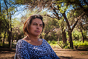 2014/11/23 – Quimili, Argentina: Salto Rosa Graciela (41), talks about her health problems due to the soy plantantions close to her house in the allotment number 4 of the Guaycurú Indigenous Community. Many health related illness like cancer, respiratory diseases and suddenly abortions accur in areas where soy is cultivated. (Eduardo Leal)