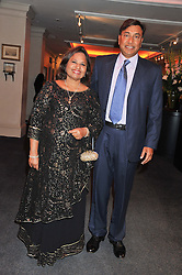 LAKSHMI & USHA MITTAL at the launch of the India Fantastique Exhibition and book launch featuring photographs by Ram Shergill and fashion by India's leading couturiers Abu Jani and Sandeep Khosla held at Sotheby's, 34-35 New Bond Street, London on 5th September 2012.