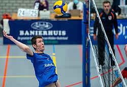 Ian Bus of Sliedrecht Sport in action during the quarter cupfinal between Taurus vs. Sliedrecht Sport on April 02, 2021 in sports hall De Kruisboog, Houten