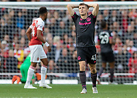 Football - 2018 / 2019 Premier League - Arsenal vs. Everton<br /> <br /> Jonjoe Kenny (Everton FC ) reacts after another Everton chance goes close at The Emirates.<br /> <br /> COLORSPORT/DANIEL BEARHAM