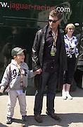 Hardy Krueger and his son Hardy Krueger jnr. Grand Prix, Saturday, 28/4/01. Barcelona. 27 April 2001. © Copyright Photograph by Dafydd Jones 66 Stockwell Park Rd. London SW9 0DA Tel 020 7733 0108 www.dafjones.com