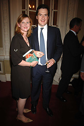 GEORGE OSBORNE MP and his wife FRANCES at a party to celebrate the publication of Sandra Howard's book 'Ursula's Stor' held at The British Academy, 10 Carlton House Terace, London on 4th September 2007.<br /><br />NON EXCLUSIVE - WORLD RIGHTS