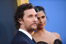 Matthew McConaughey and Camila Alves attend the premiere of Universal Pictures' 'Sing' on December 3, 2016 in Los Angeles, California. Photo by Lionel Hahn/AbacaUsa.com