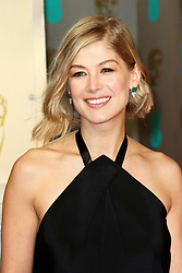 © London News Pictures. Rosamund Pike, EE British Academy Film Awards (BAFTAs), Royal Opera House Covent Garden, London UK, 08 February 2015, Photo by Richard Goldschmidt /LNP