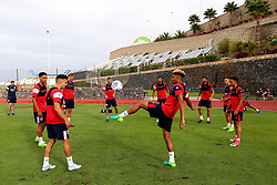 Bristol City players warm up before a training match - Mandatory by-line: Matt McNulty/JMP - 19/07/2017 - FOOTBALL - Tenerife Top Training Centre - Costa Adeje, Tenerife - Pre-Season Training