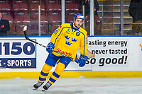 KELOWNA, BC - DECEMBER 18: Emil Bemström #10 of Team Sweden warms up against the Team Russia at Prospera Place on December 18, 2018 in Kelowna, Canada. (Photo by Marissa Baecker/Getty Images)***Local Caption***