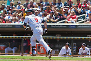 Ryan Doumit #9 of the Minnesota Twins watches his home run against the Seattle Mariners on June 2, 2013 at Target Field in Minneapolis, Minnesota.  The Twins defeated the Mariners 10 to 0.  Photo: Ben Krause