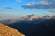 USA, Colorado, Rocky Mountain National Park, Long's Peak from Forest Canyon Overlook