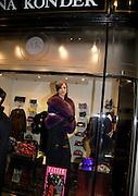 BRUNA KONDER MODELLING IN HER SHOP WINDOW, Patsy Kensit turns on Burlington Arcade Christmas Lights, Burlington Arcade, London, W1. 26 November 2008 *** Local Caption *** -DO NOT ARCHIVE -Copyright Photograph by Dafydd Jones. 248 Clapham Rd. London SW9 0PZ. Tel 0207 820 0771. www.dafjones.com