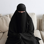Arhus, Denmark, April 15, 2010. Sumayyah, Danish, 31 years old converted to Islam in August 2007.