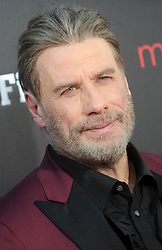 "John Travolta at the premiere of ""Gotti"" in New York City."