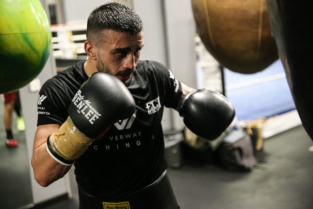 BOXEN: EC Boxing, Training, Hamburg, 30.01.2020<br /> Volkan Gokcek<br /> © Torsten Helmke