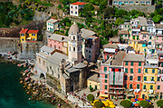The town of Vernazza from Doria Castle, Cinque Terre, Liguria, Italy