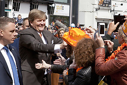 April 27, 2017 - Tilburg, Noord-Brabant, Netherlands - Tilburg, the Netherlands. Kingsday 2017 in Holland . The royal family celebrates the 50th anniversary of King Willem-Alexander today in Tilburg. Present are: King Willem-Alexander, Queen Máxima and their three daughters Amalia, Ariane and Alexia. There are also Prince Constantijn, Prince Laurentien, Prince Maurits, Princess Marilene, Prince Bernard, Princess Annette, Prince Pieter-Kristiaan, Princess Anita, Prince Floris and Princess Aimée. (Credit Image: © Paulien Van De Loo via ZUMA Wire)