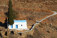 Grece, Cyclades, ile de Kythos, eglise // Greece, Cyclades islands, Kythnos, church