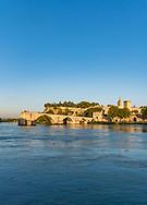 The Avignon bridge on the Rhône river in Avignon, France.