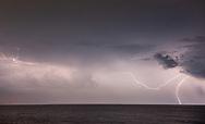 Lightning strike over Atlantic Ocean, Quogue , NY