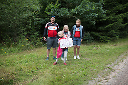 An Emilia Fählin (SWE) fan waits for her hero on the third gravel section of the Crescent Vargarda - a 152 km road race, starting and finishing in Vargarda on August 13, 2017, in Vastra Gotaland, Sweden. (Photo by Balint Hamvas/Velofocus.com)