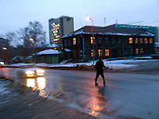 Strassenszene im Zentrum der sibirischen Hauptstadt Nowosibirsk.<br /> <br /> Street scene in the center of the Sibirian capital Novosibirsk.