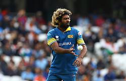 June 8, 2017 - London, United Kingdom - Lasith Malinga of Sri Lanka.during the ICC Champions Trophy match Group B between India and Sri Lanka at The Oval in London on June 08, 2017  (Credit Image: © Kieran Galvin/NurPhoto via ZUMA Press)