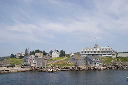 Village and harbor on Monhegan Island, Maine