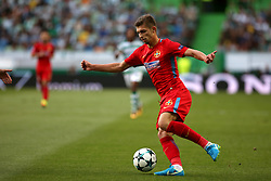 August 15, 2017 - Lisbon, Portugal - Steaua's forward Florin Tanase in action during the UEFA Champions League play-offs first leg football match between Sporting CP and FC Steaua Bucuresti at the Alvalade stadium in Lisbon, Portugal on August 15, 2017. Photo: Pedro Fiuza (Credit Image: © Pedro Fiuza via ZUMA Wire)