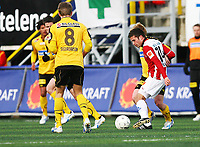 Fotball<br /> Tippeligaen 2009<br /> Tromsø v Lillestrøm<br /> 18.04.2009<br /> Foto: Tom Benjaminsen, Digitalsport<br /> <br /> Bjørn B. Sigurdarson, Lillestrøm<br /> Lars Ivers Strand, Tromsø