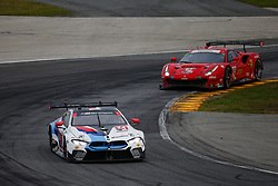 January 26, 2019 - Daytona, FL, U.S. - DAYTONA, FL - JANUARY 26: The #24 BMW Team RLL BMW M8 GTE of Jesse Krohn, John Edwards, Chaz Mostert, and Alex Zanardi during the Rolex 24 at Daytona on January 26, 2019 at Daytona International Speedway in Daytona Beach, Fl. (Photo by David Rosenblum/Icon Sportswire) (Credit Image: © David Rosenblum/Icon SMI via ZUMA Press)