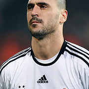 Besiktas's Hugo Almedia during their Turkish superleague soccer match Besiktas between Gaziantepspor at BJK Inonu Stadium in Istanbul Turkey on Tuesday, 05 January 2012. Photo by TURKPIX