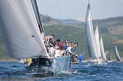 Silvers Marine Scottish Series 2017<br /> Tarbert Loch Fyne - Sailing<br /> <br /> GBR7737R, Aurora, Rod Stuart / A Ram, CCC, Corby 37<br /> <br /> Credit Marc Turner / PFM