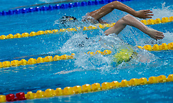 October 4, 2018 - Budapest, Hungary - Duran Miguel of Spain competes in the Mens 400m Freestyle on day one of the FINA Swimming World Cup held at Duna Arena Swimming Stadium on Okt 04, 2018 in Budapest, Hungary. (Credit Image: © Robert Szaniszlo/NurPhoto/ZUMA Press)